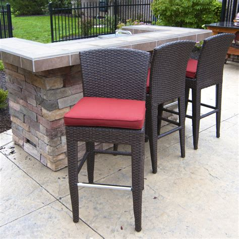 Outdoor Patio Counter Height Stools by Island Wicker Counter Height Stools Two Pack By Leisure