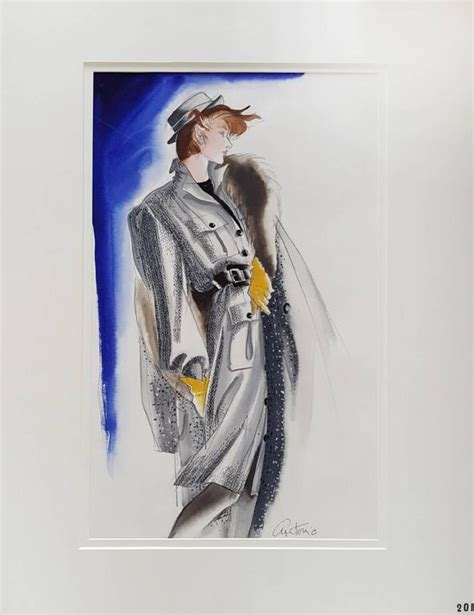 fashion illustration for sale antonio vogue usa fashion illustration painting for sale at 1stdibs