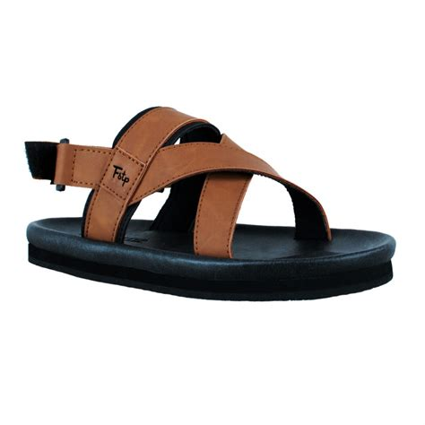 Brown Sandal For Sandal Pria Pu Leather Jk113 sandal pria taro brown mall indonesia