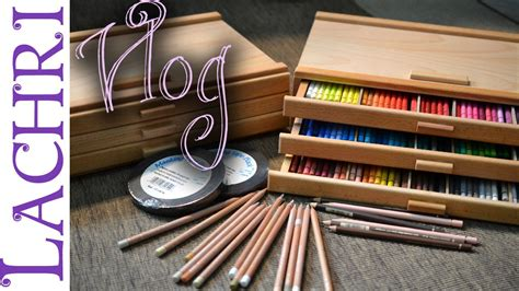 artist vlog  colored pencil storage boxes lachri