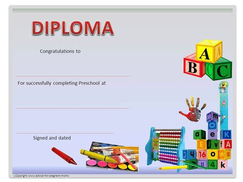 moving up certificate templates preschool diplomas advice for