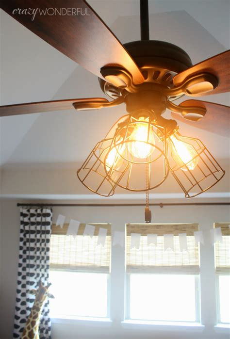 Diy Cage Light Ceiling Fan Crazy Wonderful Diy Ceiling Fan Light