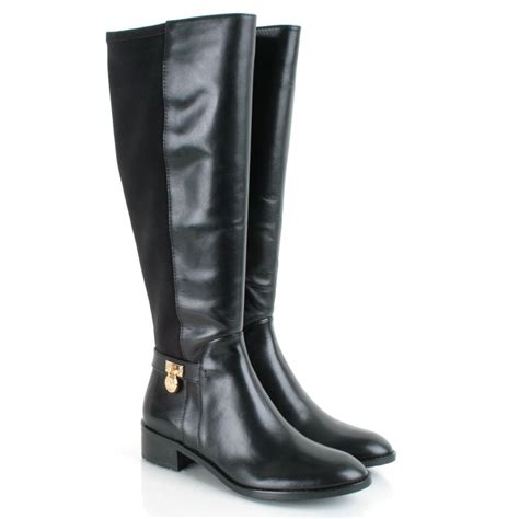 michael kors black hamilton stretch women s knee high boot