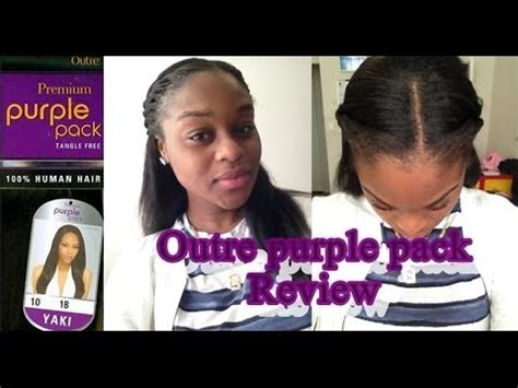 how much for pack hair outre purple pack review initial 2nd day 3 week post