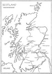 Scottish Outline by Free Scotland Map Coloring Pages