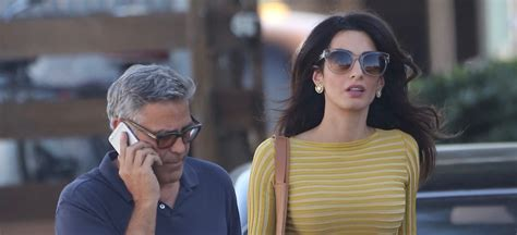 Amel Set by George Clooney Is Visited By Amal On Set Amal
