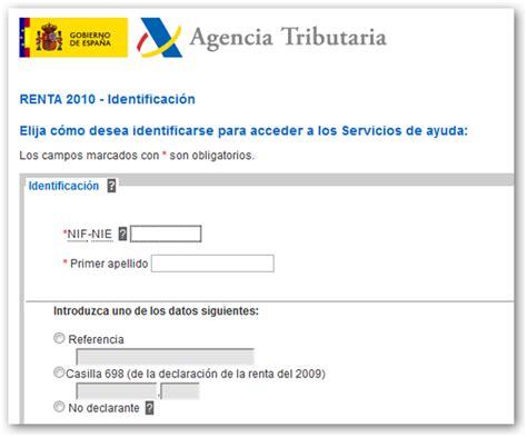 agencia tributaria borrador renta 2010 c 243 mo confirmar el borrador directamente por