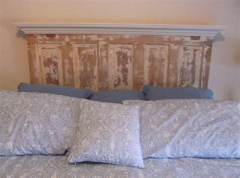 wooden door headboard 25 best ideas about distressed headboard on pinterest