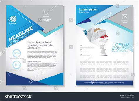 make flyer template vector brochure flyer design layout template stock vector 284850842