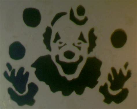 clown stencil by johnnydynamo on deviantart