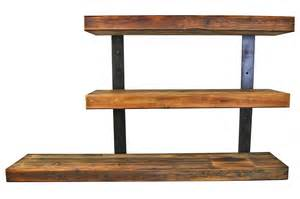 wall mounted wood shelving units reclaimed wood wall mounted shelving unit with metal mount