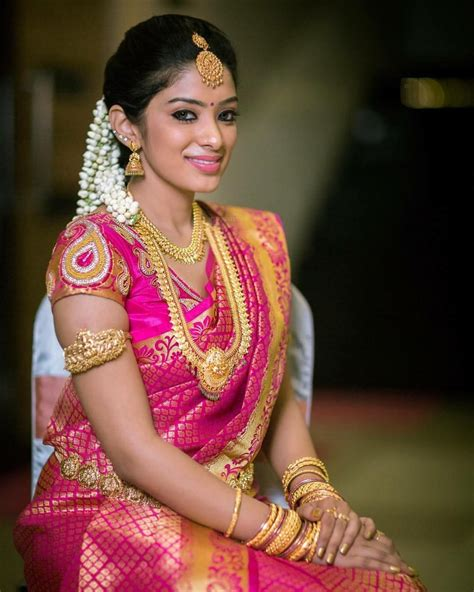 on pinterest saree blouse south indian bride and bridal sarees south indian bride gold indian bridal jewelry temple