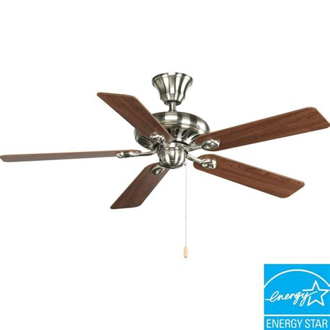 progress lighting ceiling fans progress lighting airpro signature 52 in brushed nickel