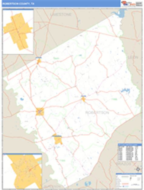 robertson county texas map robertson county tx zip code wall map basic style by marketmaps