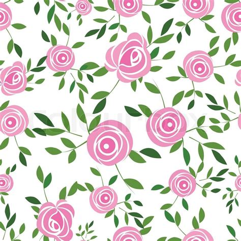 rose pattern clipart flower background with rose and leaves element for design