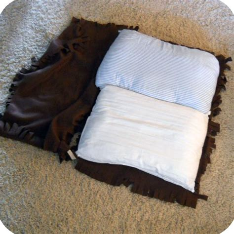 dog bed pillows no sew pet beds fleece old pillows you can just tie