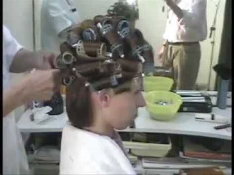 stories of men setting men in curlers brunette at the stylist hair wet set rollers and makeover