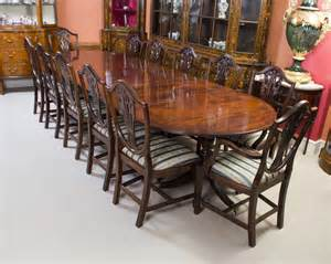 12 Chair Dining Table Antique Regency Dining Table 12 Chairs C 1900