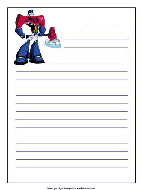 carta da lettere gratis transformers giochi per bambini