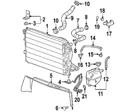 2005 chevy equinox parts diagram parts 174 chevrolet equinox radiator components oem parts