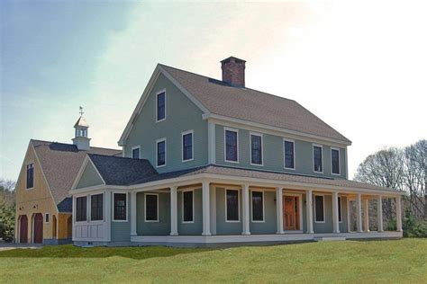 Colonial Farmhouse With Wrap Around Porch | colonial farmhouse house pinterest