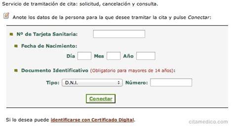 cita para el medico de cabecera por internet cita medico andaluc 237 a