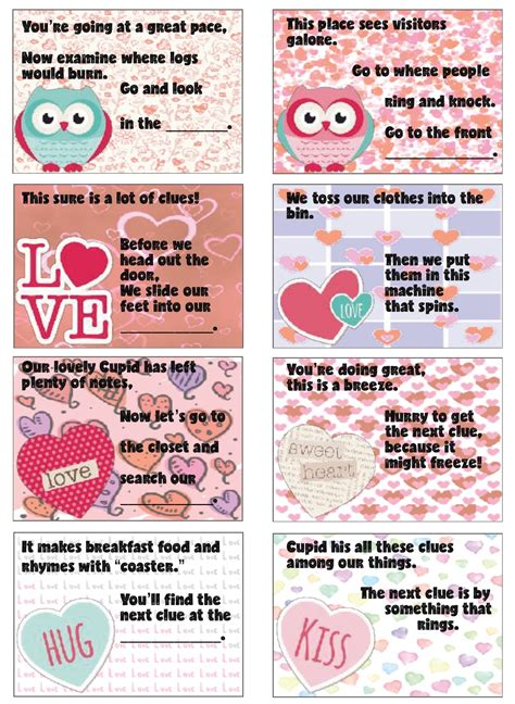 valentines day scavenger hunt clues free printable s day treasure hunt 24 clues