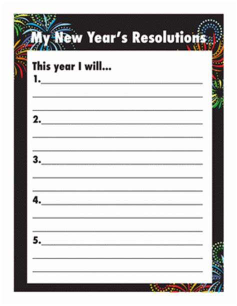 new year activities for second grade new year s resolutions worksheet education