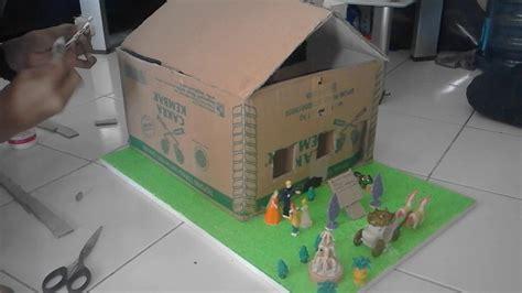 membuat gerobak bakso dari kardus cara membuat miniatur rumah youtube