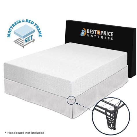 King Bed Frame For Foam Mattress Best Price Mattress 12 Memory Foam Mattress And Premium Bed Frame Set California King