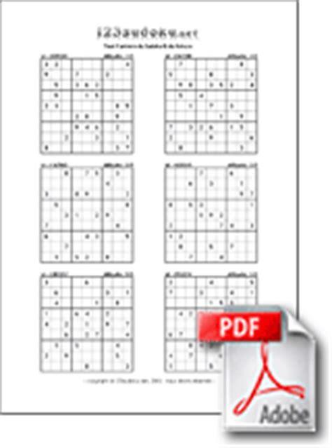 Grille De Sudoku Facile à Imprimer by Imprimer Des Grilles De Sudoku 123sudoku Net