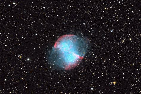 Radius by Dumbbell Nebula Messier 27 M27 Ngc 6853