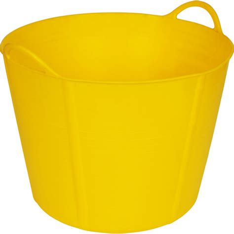 yellow bathtub flexi tub yellow 40l toolstation