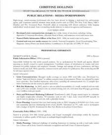 Resume Sle For Corporate Communication Manager Pr Manager Resume Sle