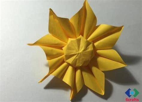 Origami Sunflower Step By Step - origami sunflower origami sunflower step by step sunflower