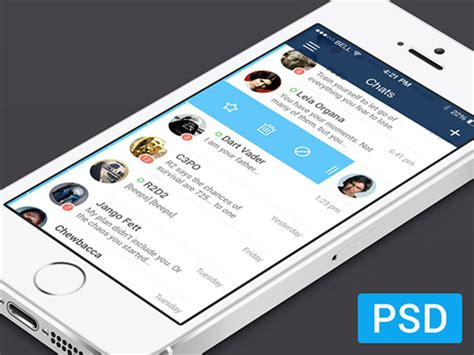 for mobile free 10 mobile free ios chat ui psd