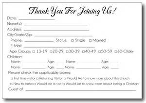 Church Visitor Card Template Word by Church Visitor Card Template Images