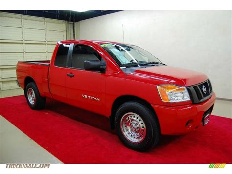 nissan truck titan red 2009 nissan titan xe king cab in red alert 307138