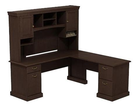 Bush L Shaped Desk With Hutch Bush Syn008 L Shaped Desk With Hutch