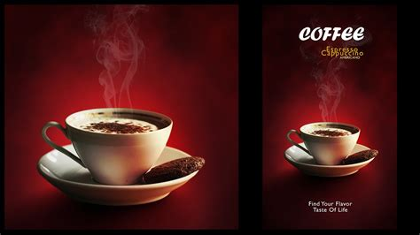 how to make designs on coffee design a minimalist coffee menu poster in photoshop youtube