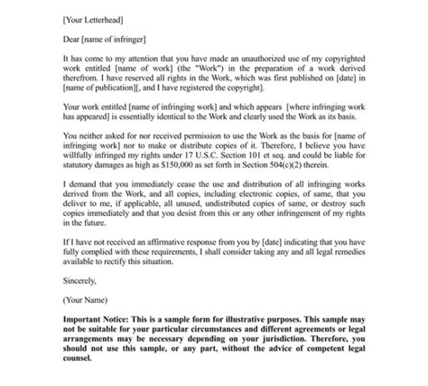 cease and desist letter template 17 sles for word