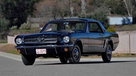 first mustang ever made first ford mustang coupe ever built going under the hammer