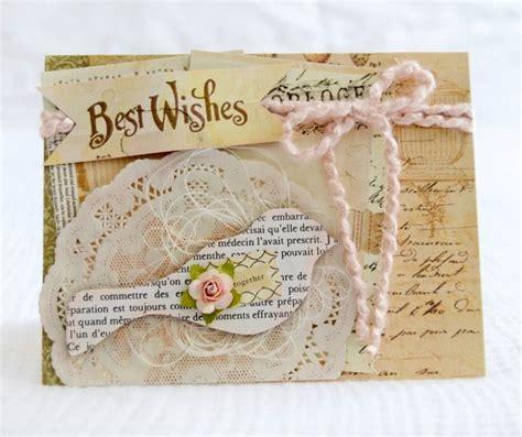 handmade shabby chic wedding cards shabby chic best wishes wedding handmade greeting card