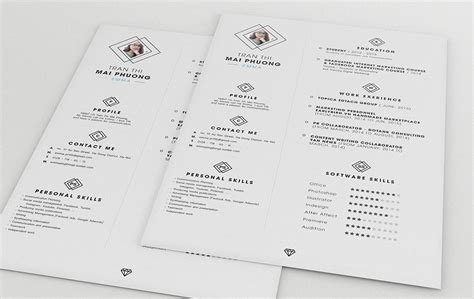 clean resume template free best free clean resume templates in psd ai and word docx