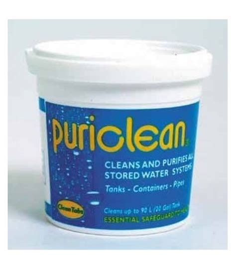 puriclean water treatment powder towler staines