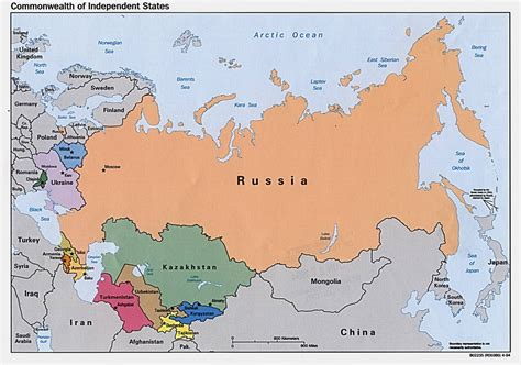 russian map political map of russia and surrounding countries