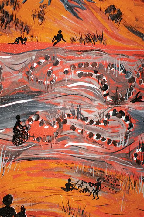 Wall Mural Australia 40 000 year old fish trap in outback nsw sovereign union
