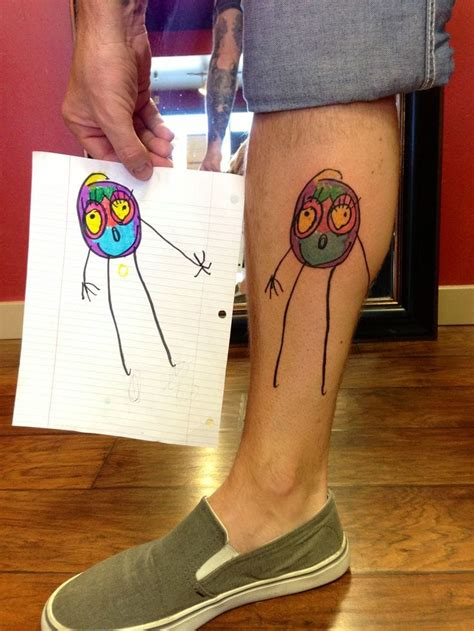 kids drawing tattoo awesome ideas for parents tattoodo