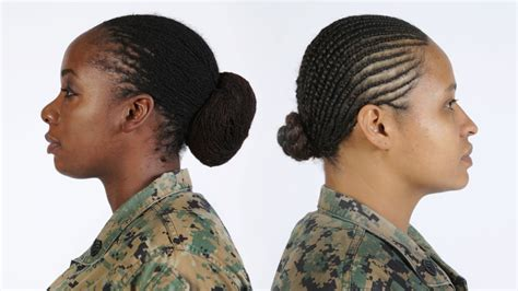 air force haircuts for women female marines in uniform can now wear locks and twists in