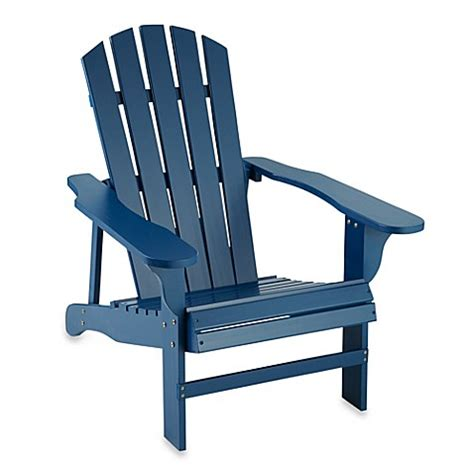 margaritaville outdoor wood side table in blue buy adirondack chair from bed bath beyond